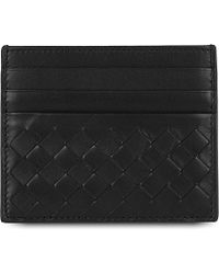 Bottega Veneta Intrecciato Weave Leather Card Holder - For Men - Lyst