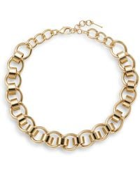 Nine West - Sculpted Link Necklace/goldtone - Lyst
