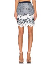 Greylin - Aster Lace Pencil Skirt - Lyst