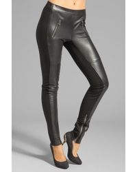 Graham & Spencer Ponti Leather Pants in Black - Lyst