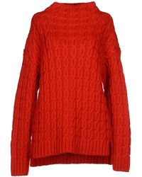 Miu Miu Red Turtleneck - Lyst