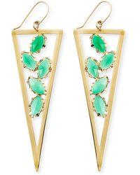 Lana Jewelry Ultra Envy Green Onyx Spike Earrings - Lyst