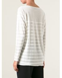 Forte Forte Striped Loose Fit Sweater - Lyst