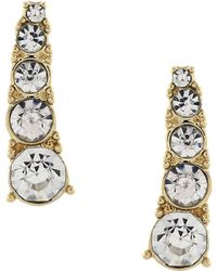 BCBGeneration - Sweeps And Threaders Crystal Swoop Earrings - Lyst