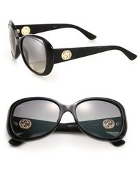 Gucci | 56mm Square Optyl Sunglasses | Lyst