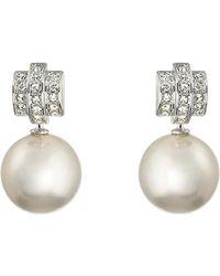Swarovski Perpetual Pearl And Crystal Earrings - Lyst