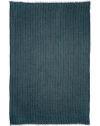 Umit Benan - Green & Navy Striped Scarf - Lyst