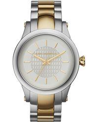 Karl Lagerfeld Unisex Slim Chain Two-Tone Watch gold - Lyst