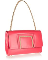 Jimmy Choo Alba Leather Shoulder Bag - Lyst