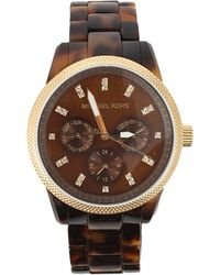 Michael Kors Tortoise Chronograph Watch - Lyst