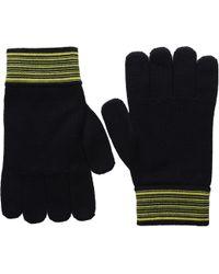 Versace Striped Cuff Gloves - Lyst