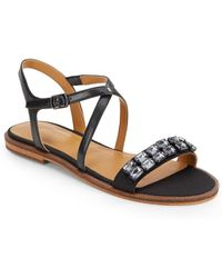 Enzo Angiolini Jewelana Embellished Sandals - Lyst