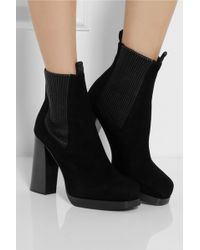 Acne Studios Flaire Suede Ankle Boots - Lyst