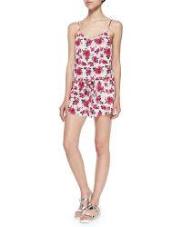 Tori Praver Swimwear - Jaya Spaghetti-strap Floral Romper - Lyst