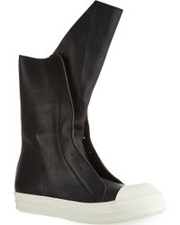 Rick Owens High Tongue Trainers Black - Lyst