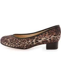 Taryn Rose Jenison Leopard-print Stretch Pump - Lyst