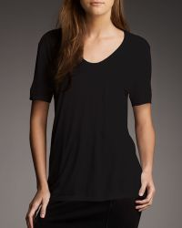 T By Alexander Wang Jersey Pocket Tee - Lyst