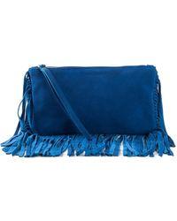 P.A.R.O.S.H. Blue 'Frangy' Clutch - Lyst