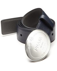 prada blue belt