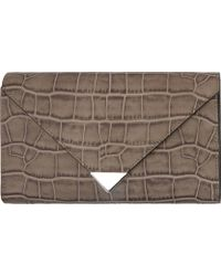 Alexander Wang Oyster Embossed Leather Prisma Envelope Clutch - Lyst