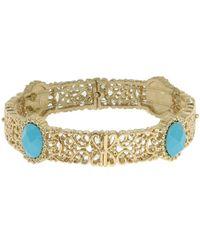 1928 - Turquoise Filigree Stretch Bracelet - Lyst