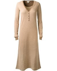Marc Jacobs Brown and Beige Long Striped Dress - Lyst