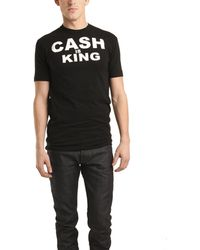Cash Nyc Cash Is King Black Tee Shirt black - Lyst