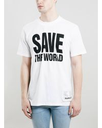 Topman Katharine Hamnett White Save The World T-Shirt - Lyst