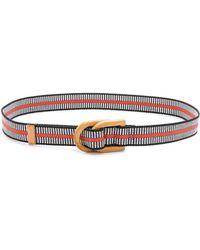 Tory Burch Wooden D Ring Belt - Blue Multi - Lyst