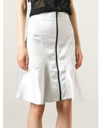 KTZ Textured Peplum Skirt - Lyst