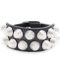 Balenciaga Giant Stud Leather Bracelet - Lyst