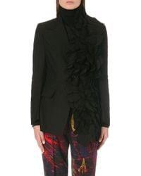 Yohji Yamamoto Ruffled Cotton Jacket - Lyst