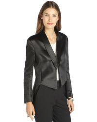Theyskens' Theory Shiny Woven Cutaway Mirsi Tuxedo Jacket - Lyst