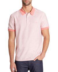 Ferragamo Cotton Melange Polo pink - Lyst
