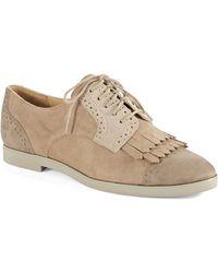 Enzo Angiolini Fireballe Suede Saddle Fringe Shoes - Lyst