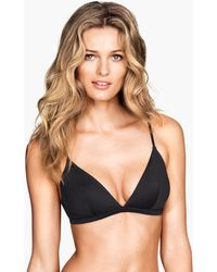 H&M Nonwired Microfibre Bra - Lyst
