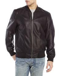 Levi's Faux Leather Zip-Front Jacket - Lyst