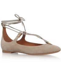 Chloé - Foster Lace-up Ballet Flat - Lyst