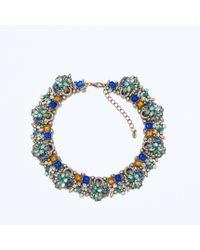 Zara Multicolor Rhinestone Necklace - Lyst