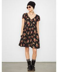 Denim & Supply Ralph Lauren Floral Buttoned-Front Dress - Lyst