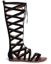 Sam Edelman | 'gena' Caged Suede Gladiator Sandals | Lyst