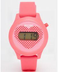 Moschino - Digital Teen Love Heart Watch - Lyst