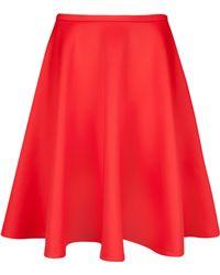 Ted Baker Red Skater Skirt - Lyst