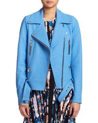 Elizabeth And James Corlyn Leather Moto Jacket blue - Lyst