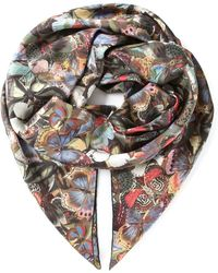 Valentino 'Camubutterfly' Scarf - Lyst