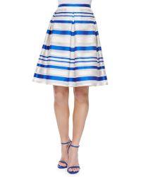 Phoebe - Striped Pleated Midi Skirt - Lyst