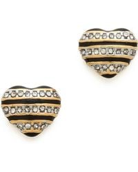 Juicy Couture - Mad For Mod Pave Striped Stud Earrings - Lyst