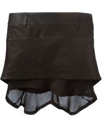 Haider Ackermann Asymmetric Layered Mini Skirt black - Lyst