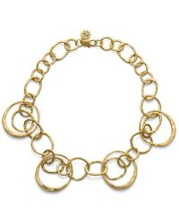 Tory Burch Hammered Metal Short Necklace - Lyst