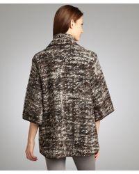 Waverly Grey - Brown Nubby Wool Blend Sweater Jacket - Lyst
